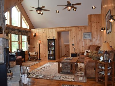 Photo for Grand home in very private and serene estate setting.  Direct prime lake access.