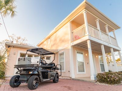 Photo for Charming 2 bedroom beach cottage with golf cart.  Free daily activities included.