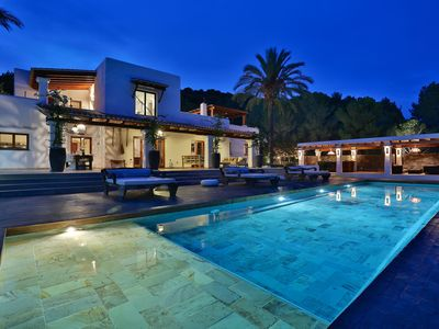 Photo for Luxurious Mansion with Wi-Fi, Infinity Pool, Garden, Tennis Court and Sea View