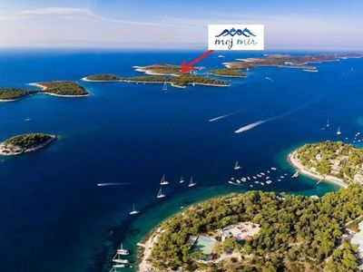 Photo for Hvar- robinson house, Pakleni islands- spacious house in secret bay with seaview