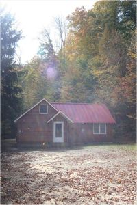 Lakeview: View of Cabin Front in Fall