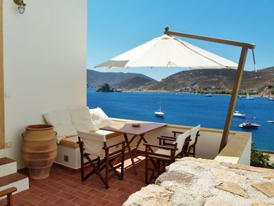 Photo for PATMOS HOUSES-Villa Fantasia a few meters from the sea, breathtaking view