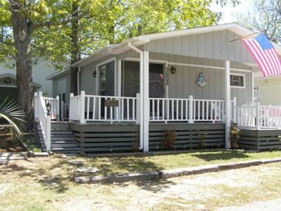 Photo for RELAX HERE!  Quiet Street, Shady Lot Beach Cottage, 5000 Section, Sleeps 7