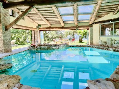 Photo for Colle dell'Asinello, luxury villa &  pool heating 30 C°, & wellness h24-Umbria-