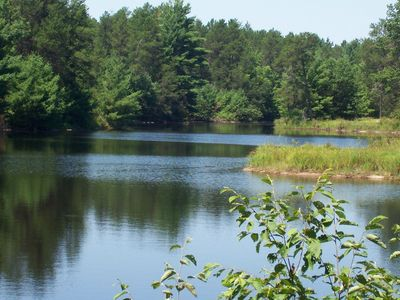 Photo for Tall Pines Lodge (Cottages On Serenity Lake) sitting 80 acres of wildlife!