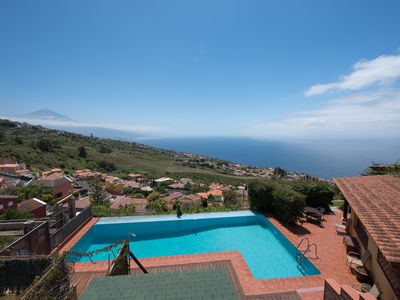 Photo for The most spectacular VIEWS to the sea, POOL, SAUNA, JACUZZI and BARBACUE