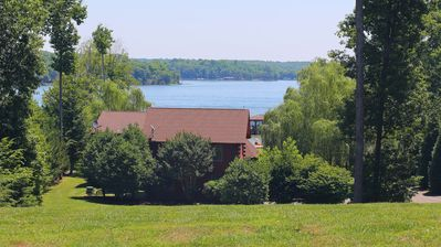 Your view as you turn into the driveway!  Unmatched views anywhere on Lake Anna!