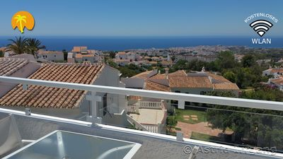 Photo for Dreamhouse: sea view, gr. South terrace, air conditioning, 2x TV, pool, Fußbhzg, Netflix