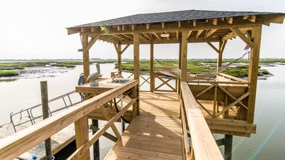 Photo for Deep Water Dock, Beautiful Century Old Home, 3 Screened Porches w/Inlet View