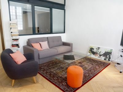 Photo for Very nice chic apartment of 60m2, design & functional on beautiful pedestrian street