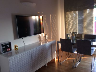 Modern living room with 50 inches plasma