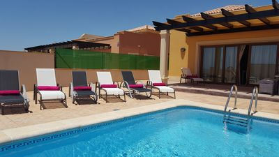 Photo for Beautiful, spacious villa, heated pool, sleeps eight, with quality furnishings