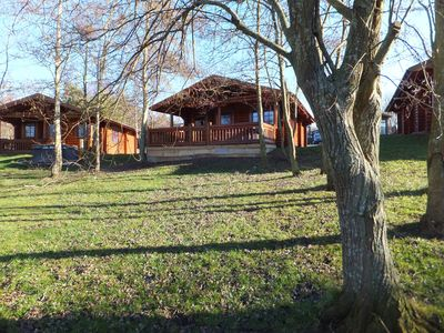 Photo for Grandview log cabin with lakeside view &Hot tub.