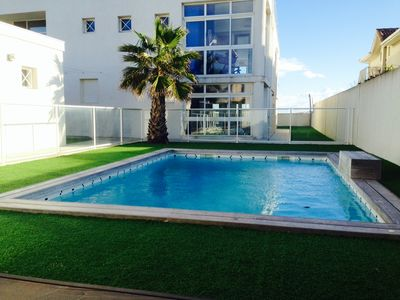 Photo for 140 M2 LARGE STANDING APARTMENT / 1st LINE / SEA VIEW / DIRECT POOL