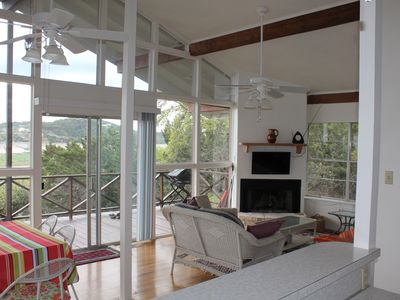 Photo for Soul Quenching Views, Breathtaking Sunsets. Gorgeous Covered Balcony on the Lake