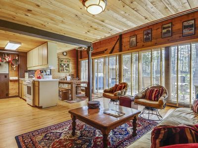 Photo for Cozy Cabin near Meadows Golf Course w/ WiFi, Gas Fireplace, Private Deck & More!