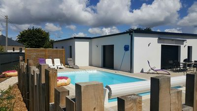 Photo for Large spacious, contemporary house on the edge of the Atlantic with swimming pool