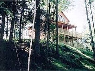 Photo for Secluded Cabin on 22 Acres with Creek