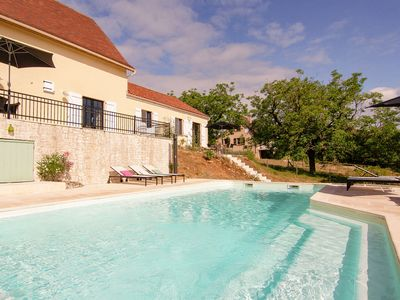Photo for Sunny and beautiful gite with shared swimming pool and beautiful views.