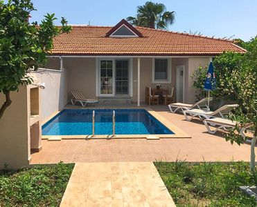 Photo for Villa Duman 1: Private Pool, A/C, WiFi, Car Not Required