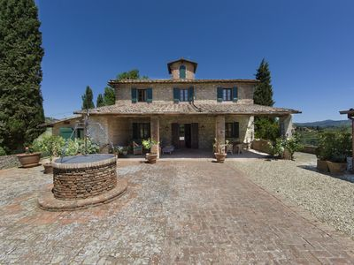 Photo for LUXURY HISTORIC VILLA IN TUSCANY WITH PRIVATE POOL & AC - 8 MILES FROM FLORENCE