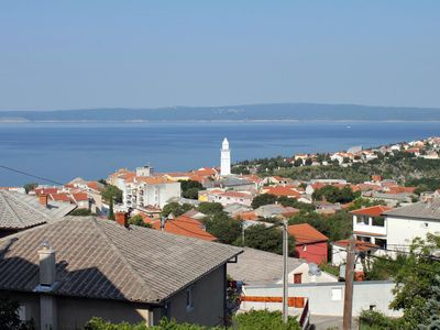 Photo for Two bedroom apartment with terrace and sea view Novi Vinodolski (A-5587-a)
