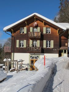 Photo for Luxury Chalet Apartment, Stunning views, Wengen, Swiss Alps, ski lift close by