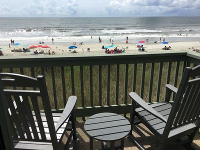Photo for SPECTACULAR views!! 2BR/2bath oceanfront condo, corner unit, 940 sq. Ft