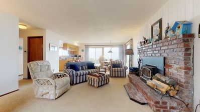 Photo for Waterfront, dog-friendly getaway w/ a fireplace & incredible ocean views!