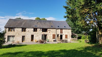 Photo for Serendipity Gites farmhouse and barn 14 guests, 7 bedrooms. Pets welcome.