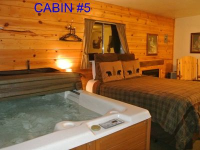 Photo for CABIN #5 - WOLF'S DEN (JACUZZI & FIREPLACE)