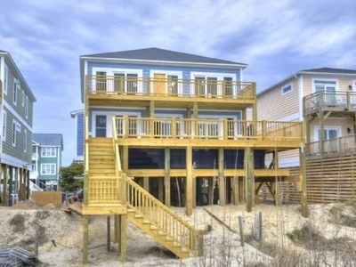 Photo for Oceanfront 7 Bdrm, 6.5 Bath New Awestruck home with ELEVATED POOL/Sleeps 21
