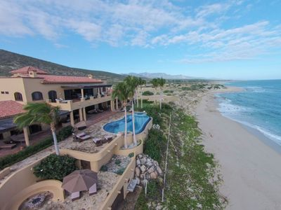 Photo for Stunning Beach Front Hacienda with private beach and pool