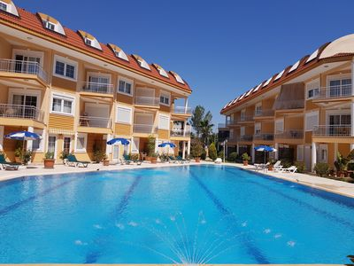 Photo for New 2 bedroom apart with wi-fi and pool 600m from the sea D4