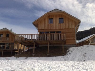 View of the chalet and the verandah