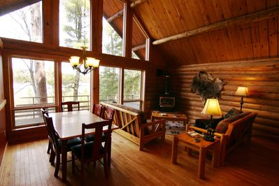 Open living area with a break taking view of Lake Gegoka