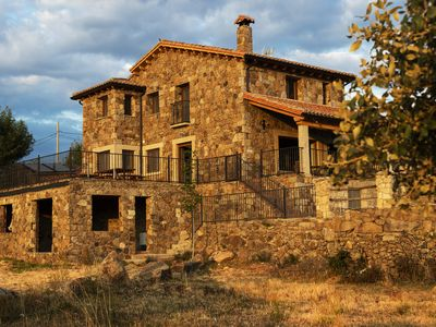 Photo for Country houses Gredos Avila 20 places ideal large groups family / friends Swimming pool