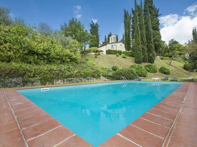 Photo for Villa Senese, only 5 Km from Siena, in the Tuscan country side with wonderful view, with 8 bedrooms