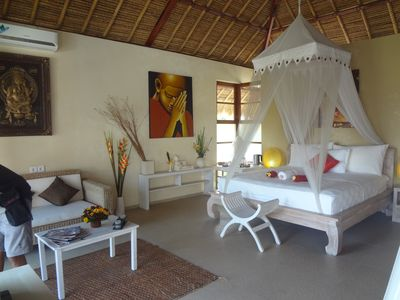 VIEW SUITE = rooms 3 and 4: upstairs. 36m2 + 12m2 balcony + bathroom - fridge