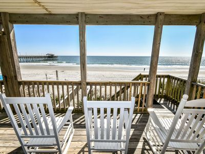 Photo for Against The Wind Side B, oceanfront home, Awesome view of Garden City Pier