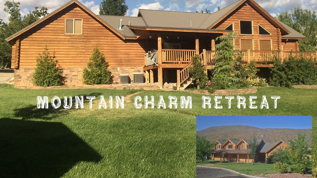 Luxury log home retreat near zion national park for Vacation rentals near zion national park