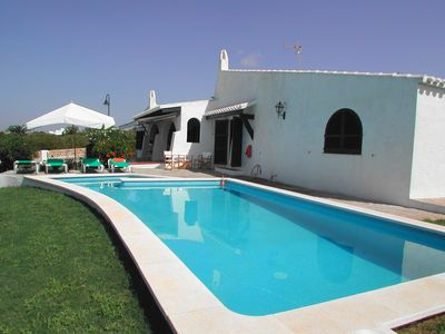 Photo for Villa Bini for 7 guests, only 1km to gorgeous Menorca beaches!