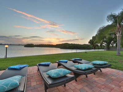 Photo for Oceanfront home w/sunset views of Sarasota Bay