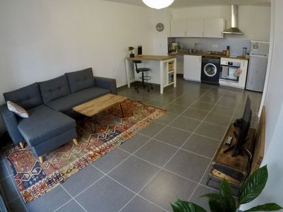 Photo for New Apartment T1 with Terrace and Garden