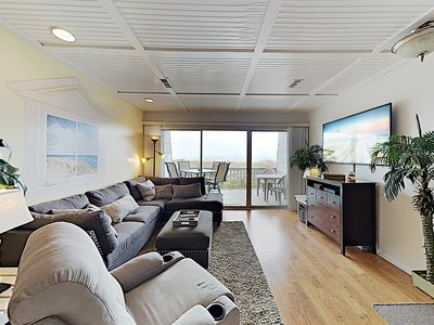 Photo for New Listing! Oceanfront Townhouse: Balconies & Beach Views - Steps to Shore
