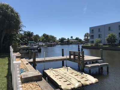 Photo for Waterfront 3/2 with pool and dock only minutes from the beach!!