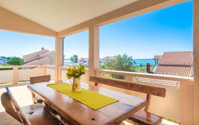 Photo for Three bedroom apartment with terrace and sea view Vir (A-17879-a)