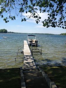 You can't get closer to the lake than at this Cabin on Gun Lake.