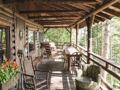 Photo for Classic Waterfront 5BR Sprucewold Cabin overlooking Linekin Bay