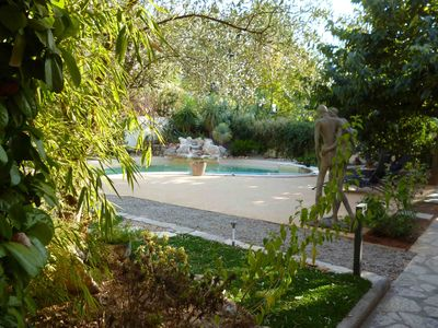 Photo for single storey villa in Montpellier with garden and landscaped pool, 4 people
